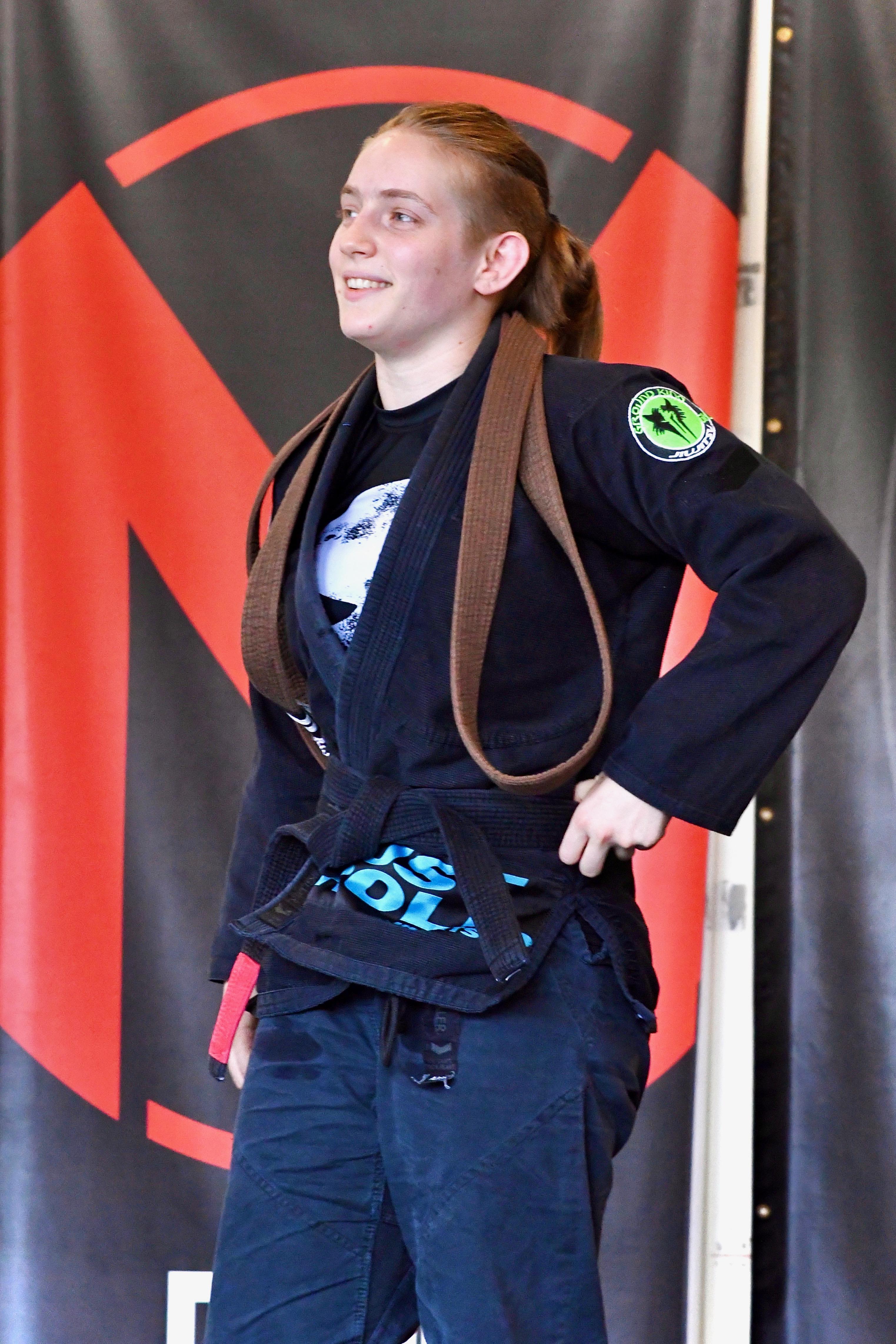 Sheliah Lindsey receives her black belt!