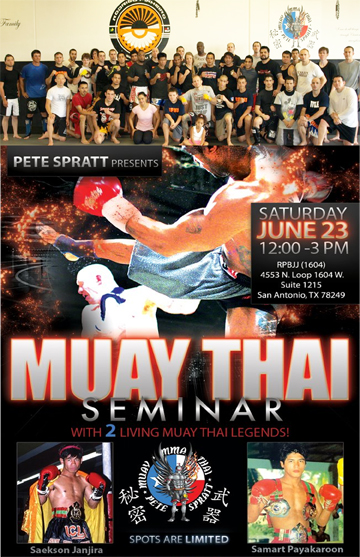 Saekson Janjira Muay Thai Seminar Hosted by Pete Spratt