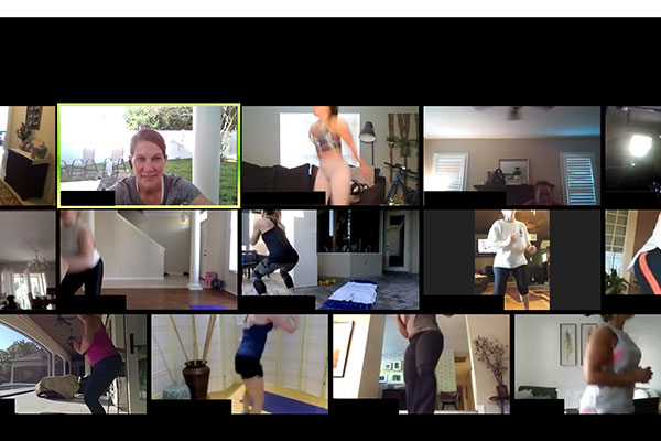 live online training class at Functional Fit Club via Zoom