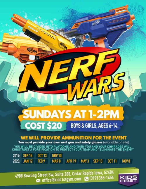 Nerf Wars – September 15th