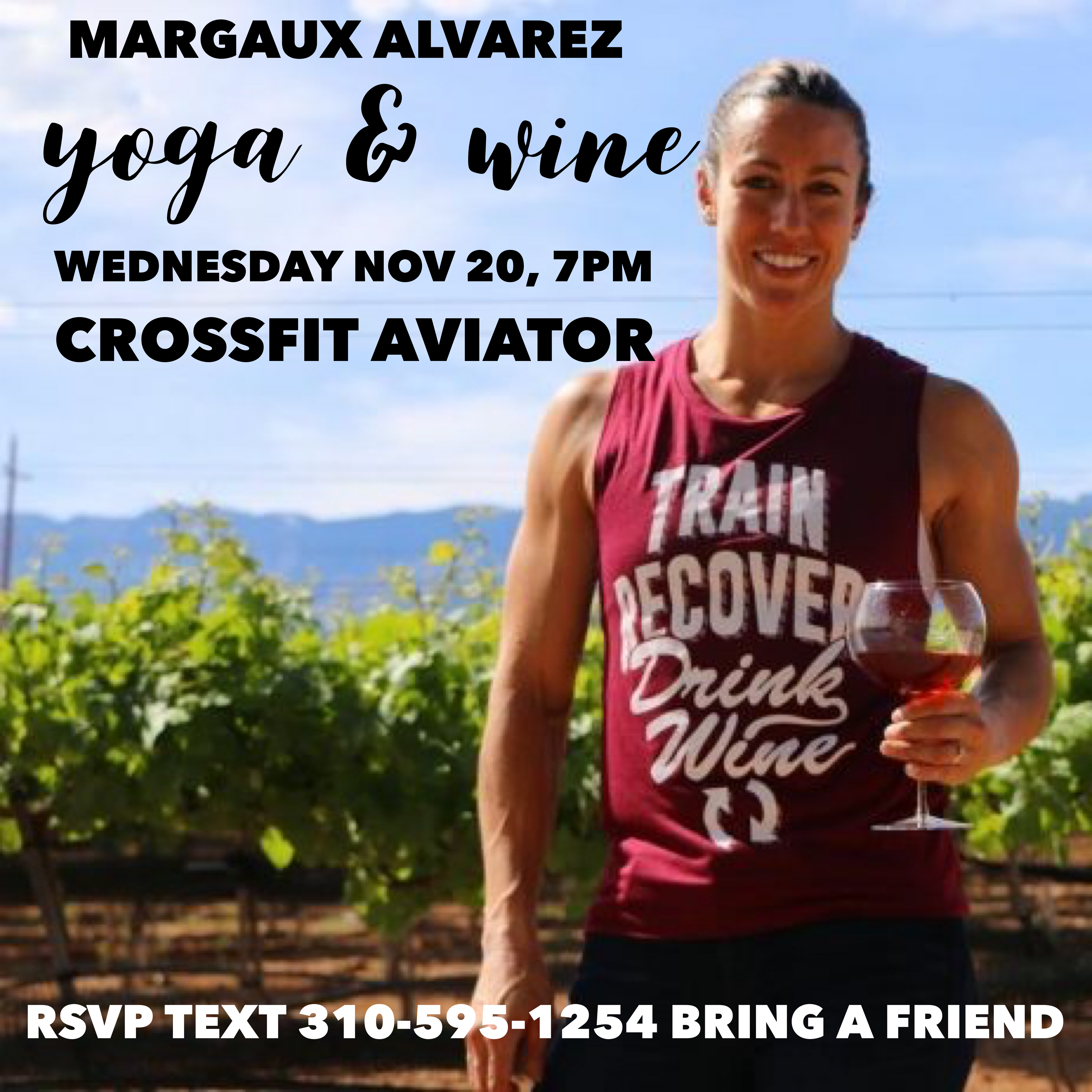 Wine & Yoga with Margaux Alvarez