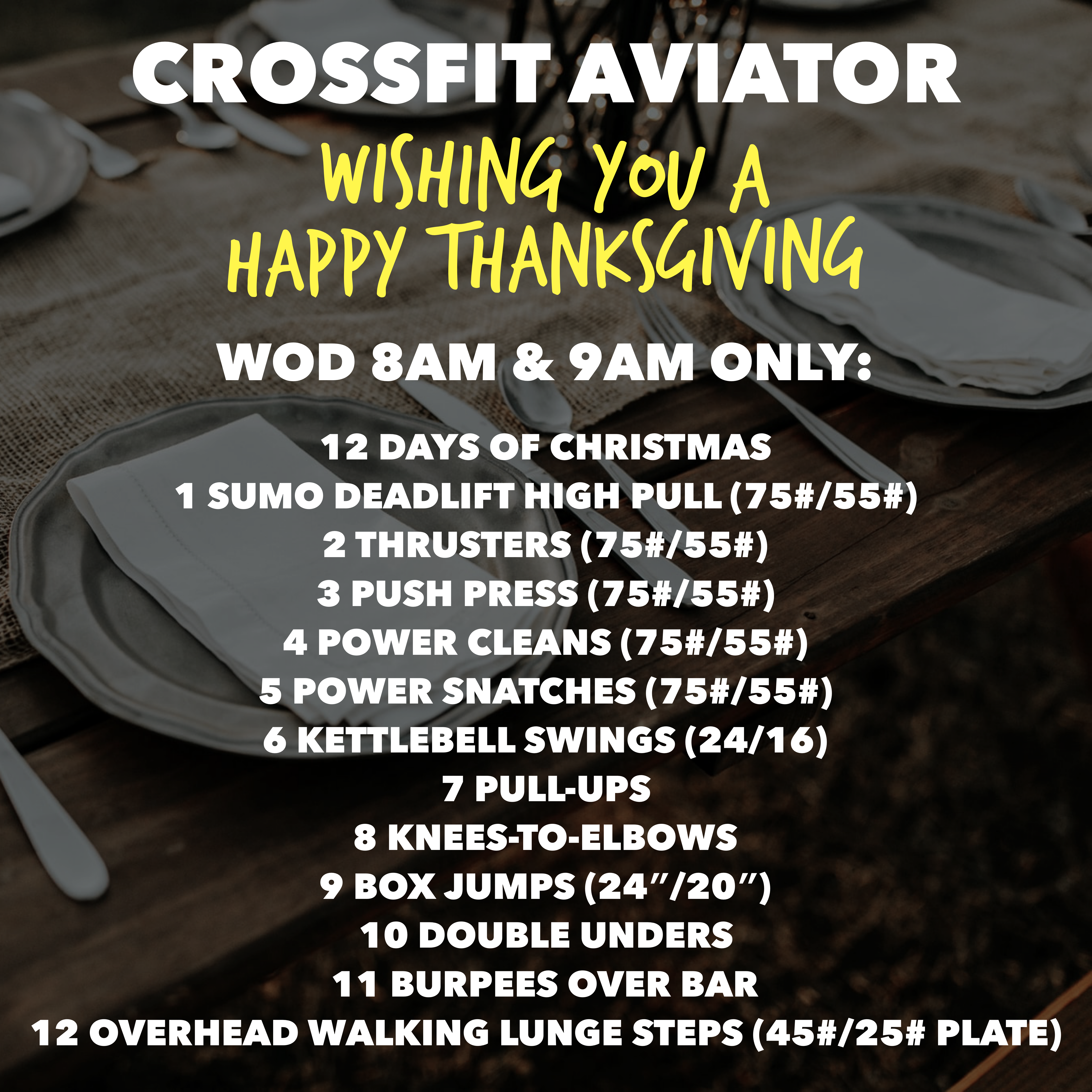 Thanksgiving Day WOD