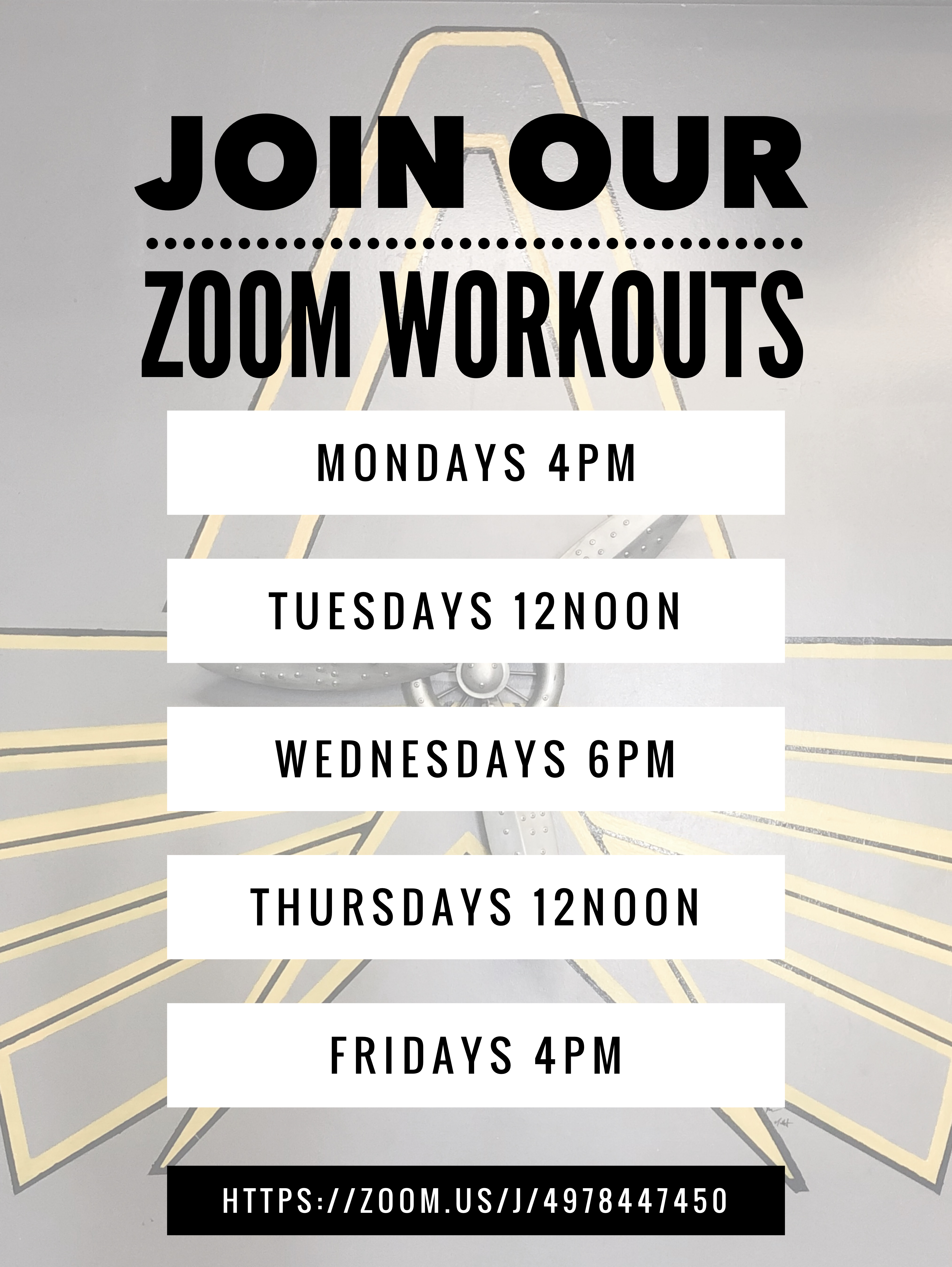 Join Our Zooms