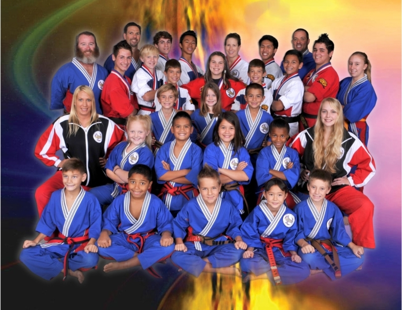 santa teresa west coast martial arts demo team posing for photo