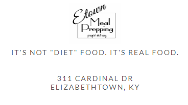Etown Meal Prep Pick Up Location