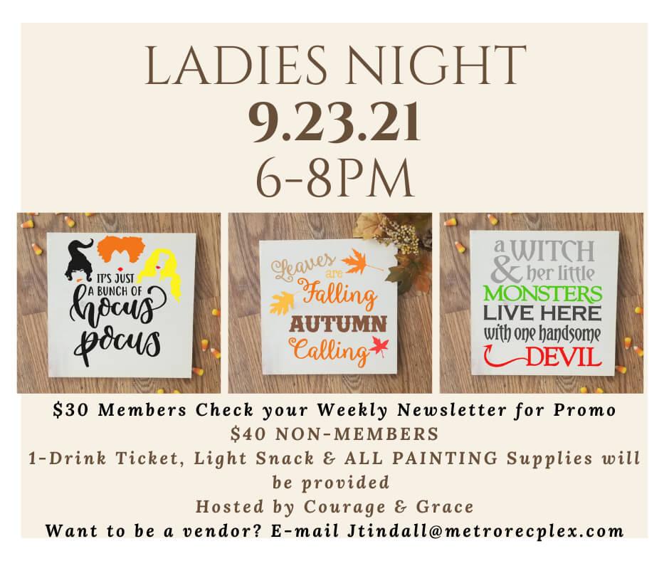 09/23 Metro Rec Plex Ladies Night