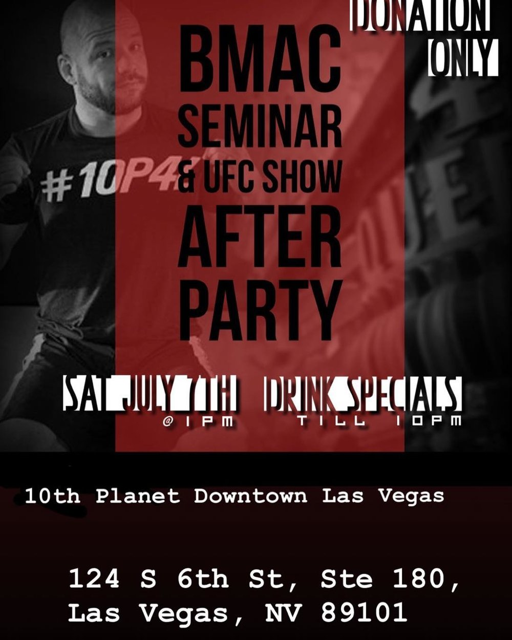 Brandon Mccaghren Seminar and UFC Show After Party