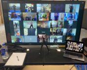 Example of virtual martial arts training.
