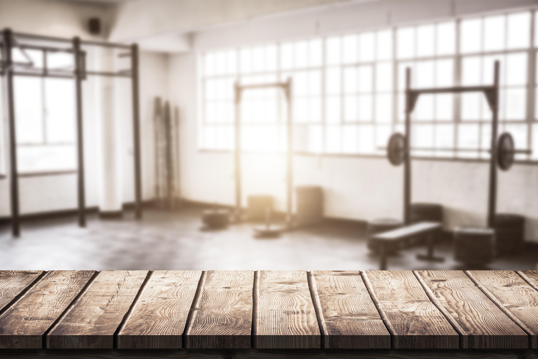 Empty gym crossfit uffda