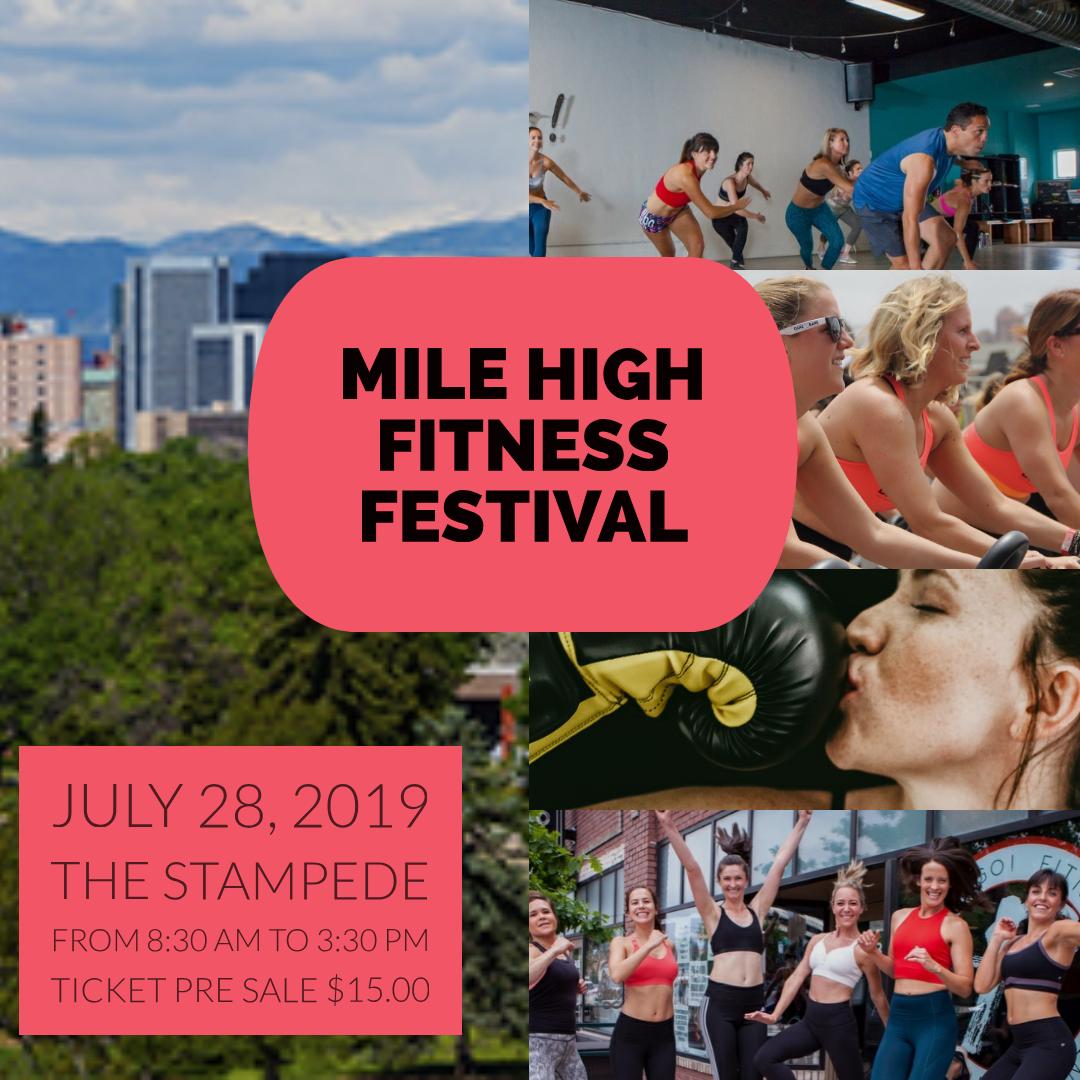 Mile High Fitness Festival July 28, 2019 at Stampede