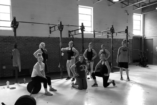 Group gathered at CrossFit TYL in Creston, IA