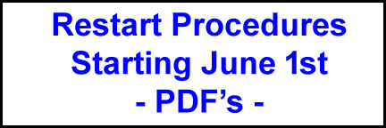 Restart Procedures starting June 1st – PDF's
