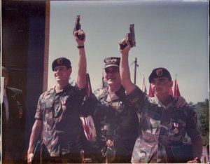 SSG Sheehan and SSG Beiswanger - 1991 Best Ranger Contest Winners