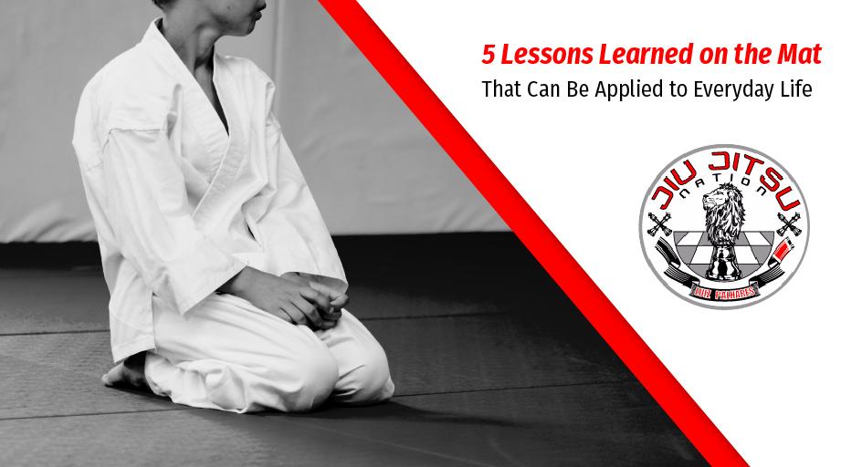 blog image of a jiu jitsu student sitting on the mat