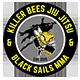 Killer Bees Jiu Jitsu and Black Sails MMA Logo