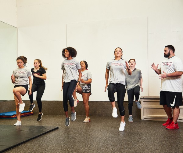 group of students in fitness class