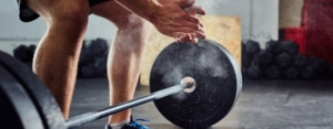 barbell on the ground