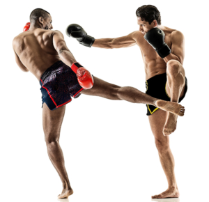 Men practicing Muay Thai