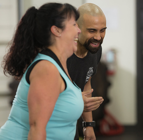 Langley Personal Trainer coaching client.