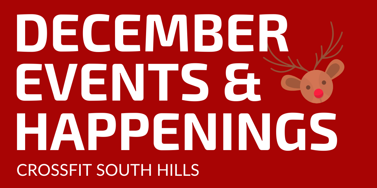 December Events and Happenings!