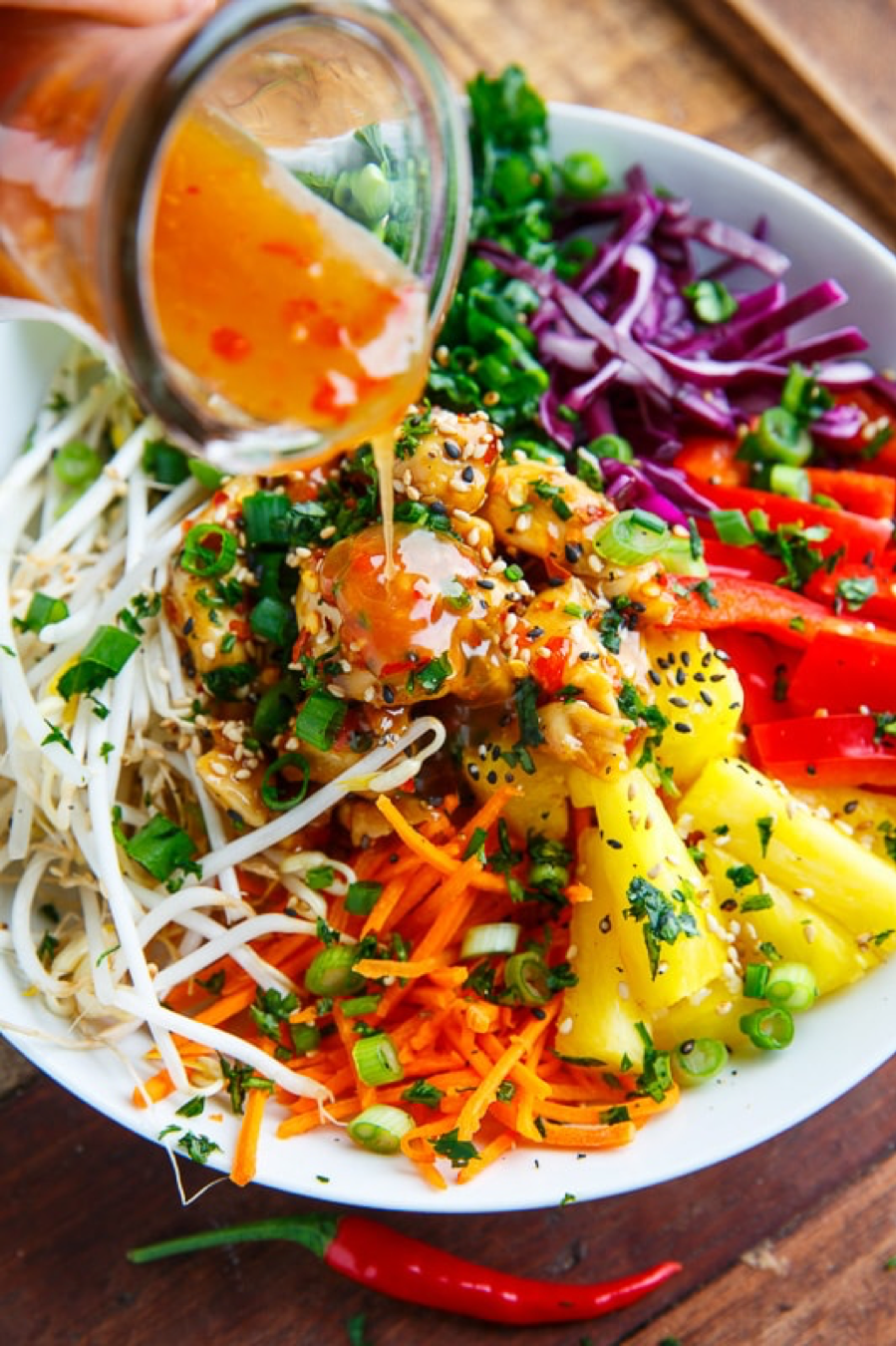 THAI SWEET CHILI CHICKEN BUDDAH BOWLS