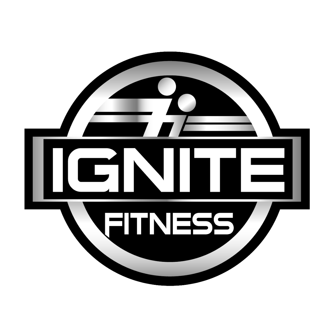 Ignite Fitness & CrossFit Lit Up Logo