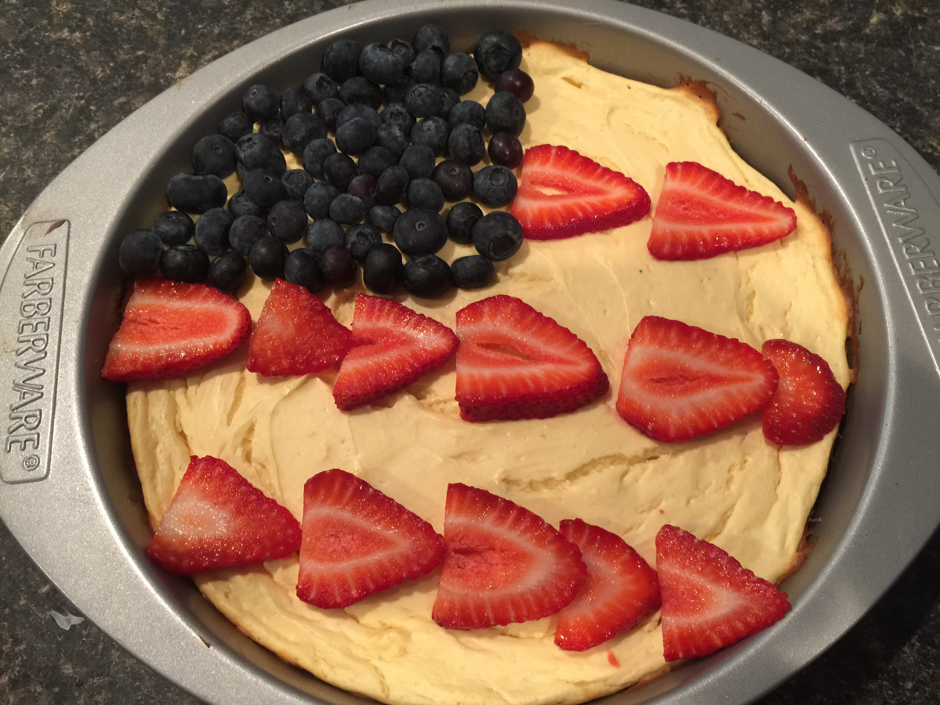 July 4th Guilt-Free Cheesecake