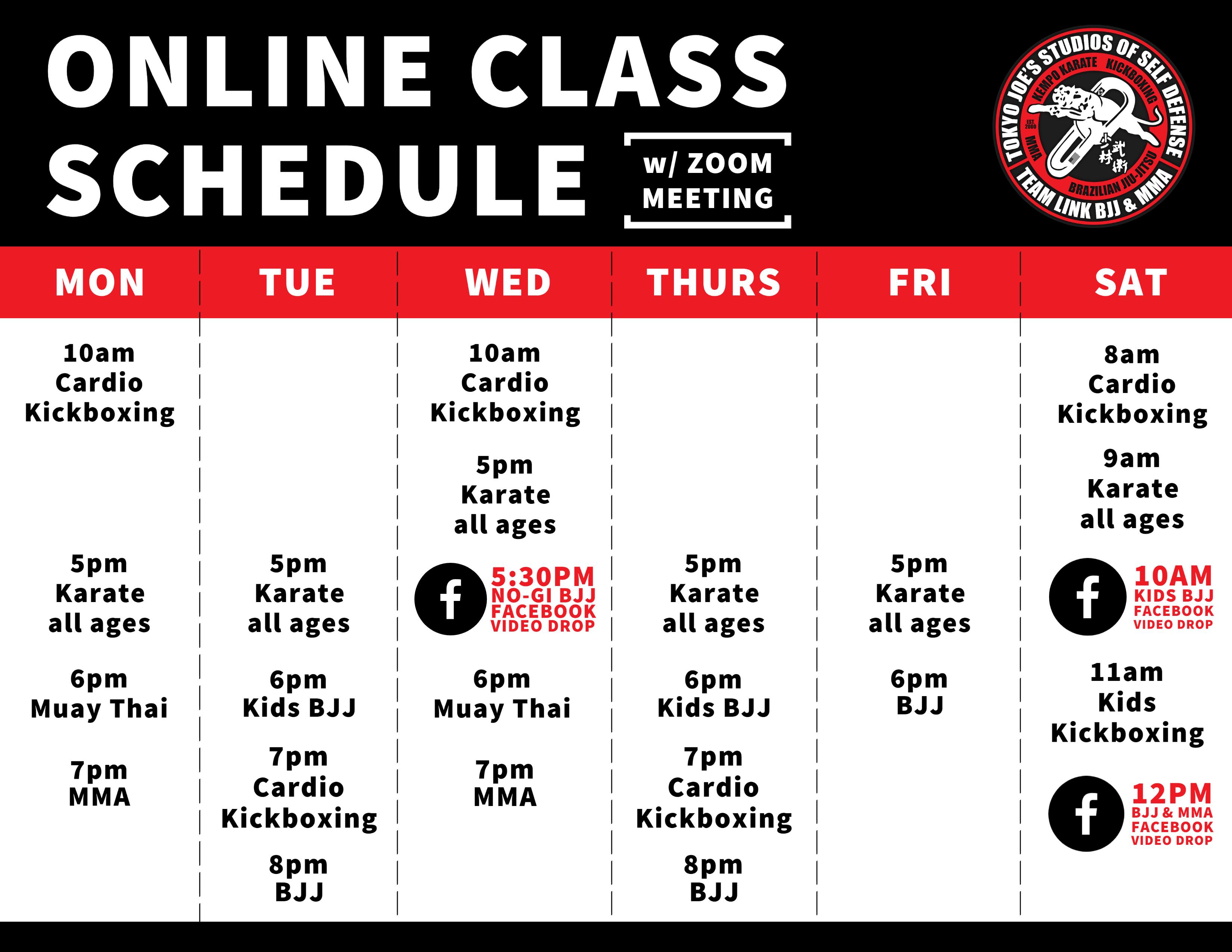 On Line Schedule