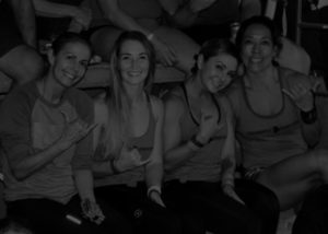 Ladies posein Women's Power Hour Class