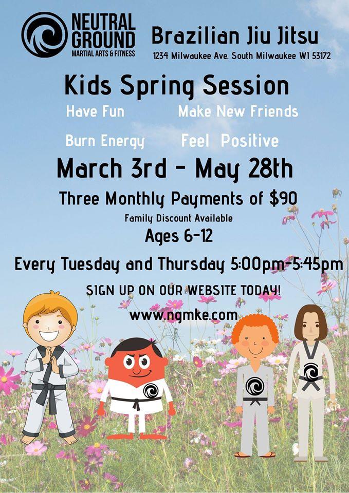 Spring Kids Brazilian Jiujitsu Begins!