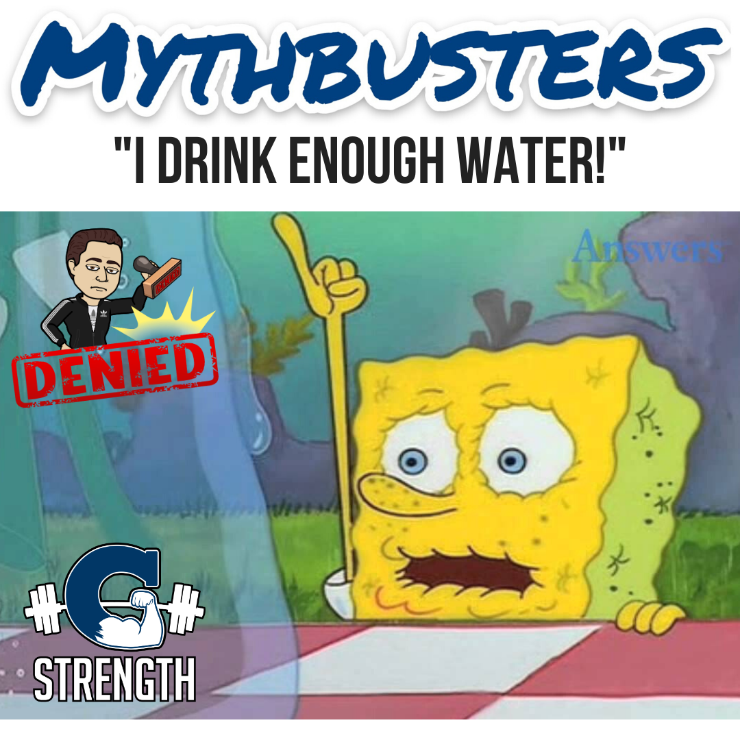 """Mythbusters #17 – """"I drink enough water."""""""