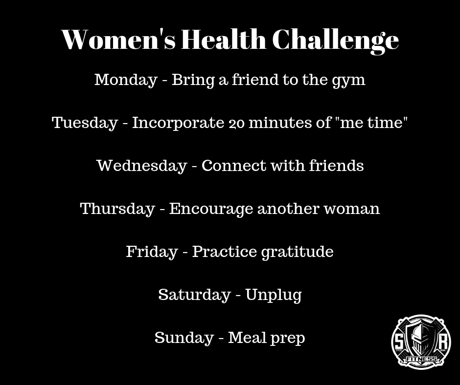 Healthy Lifestyle - Women's Health Week steelrainfitness.com