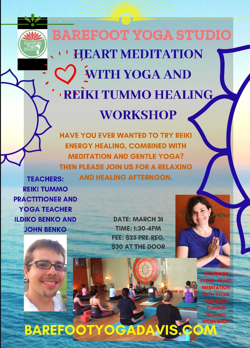 Heart Meditation with Yoga and Reiki TUMMO Healing Workshop
