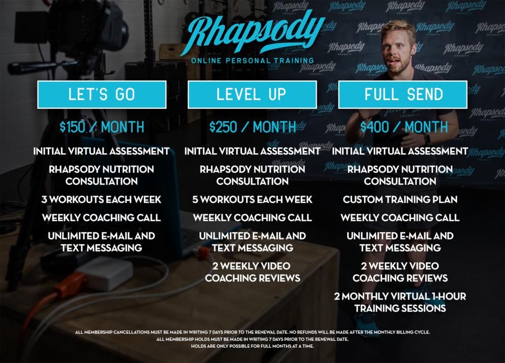 Rhapsody Online Personal Training