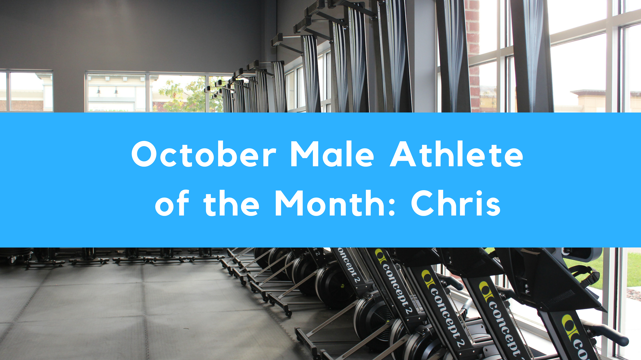 October Male Athlete of the Month: Chris