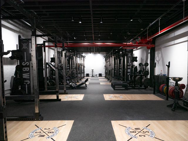 squat racks inside SBWC
