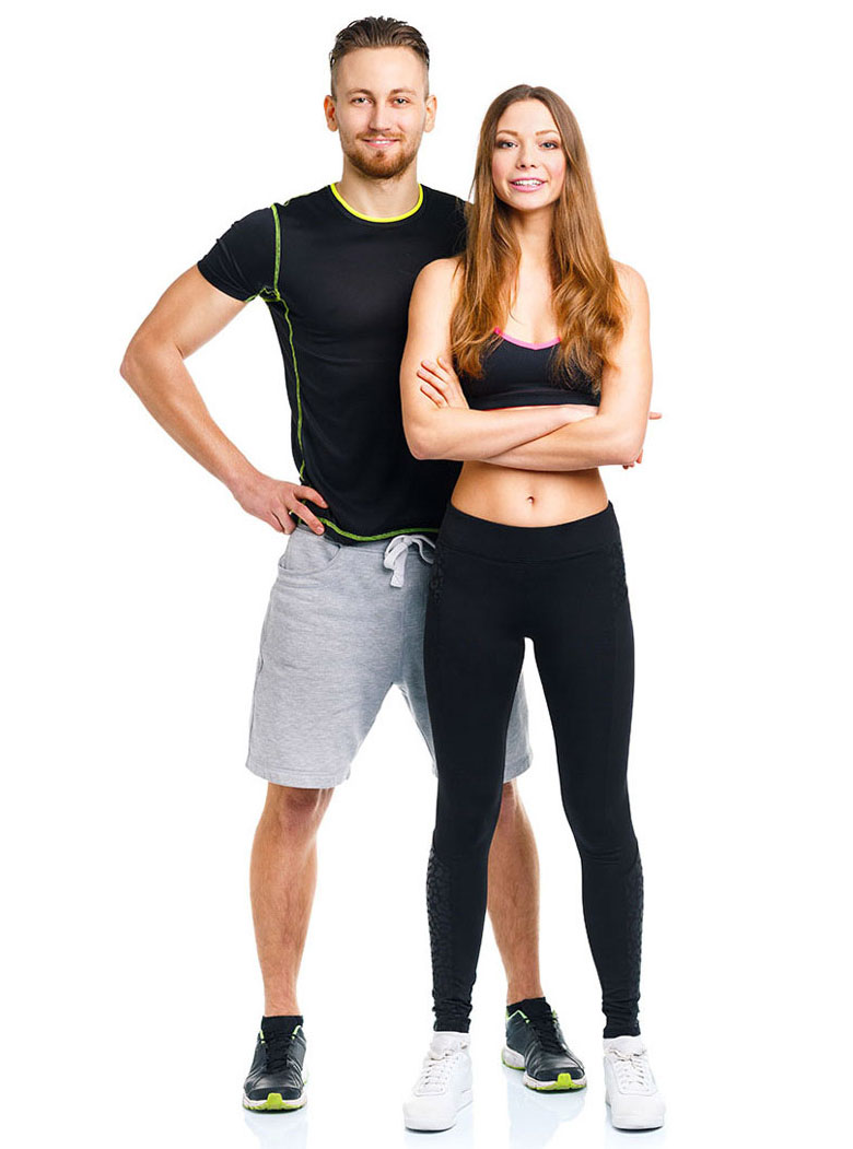 adults in gym clothing