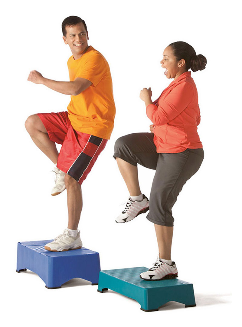 adults doing exercise