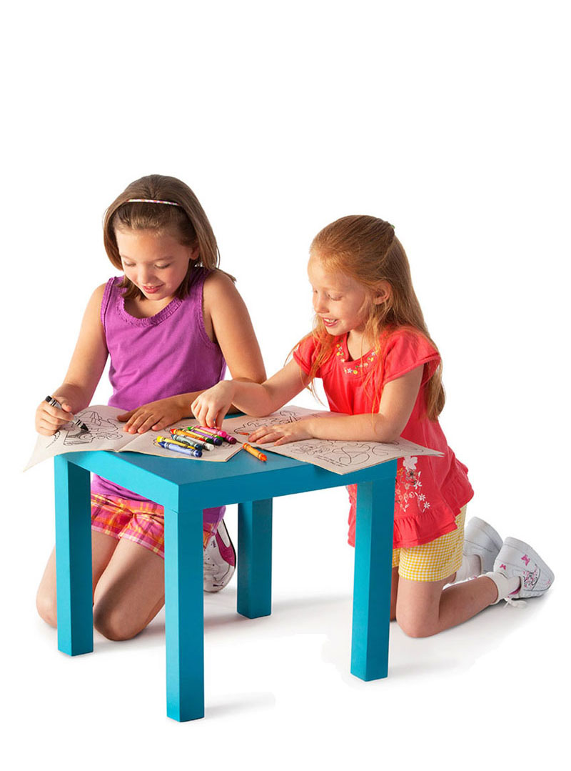 girls coloring with crayons