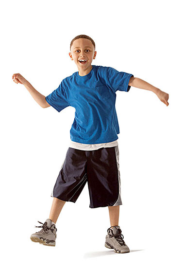 a child dancing