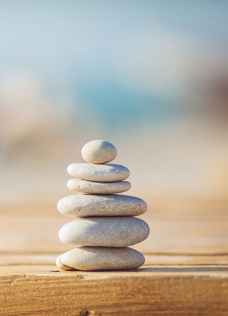 stones stacked on top of each other.