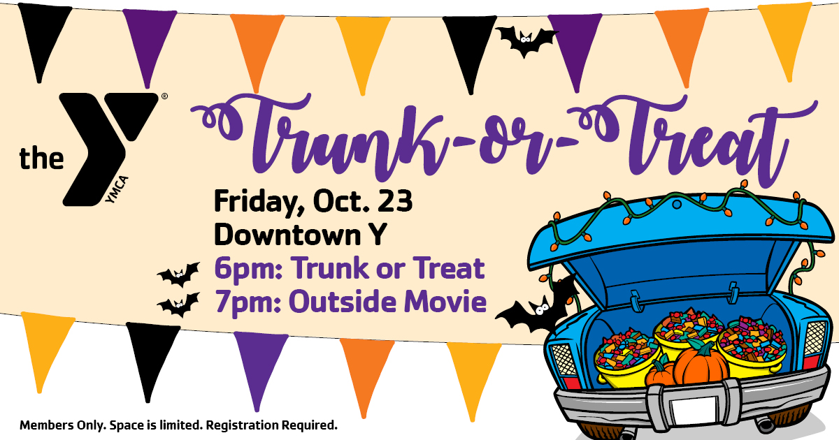Trunk or Treat with car trunk full of treats