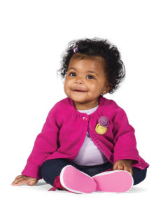 African American baby with pink sweater