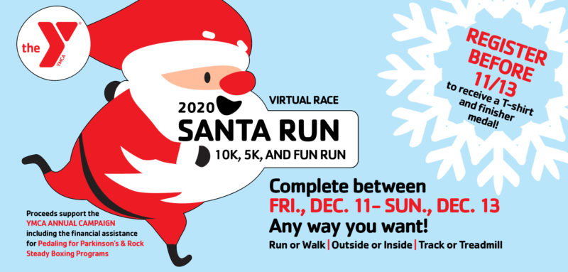santa run advertisement
