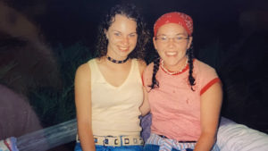 two girls at camp