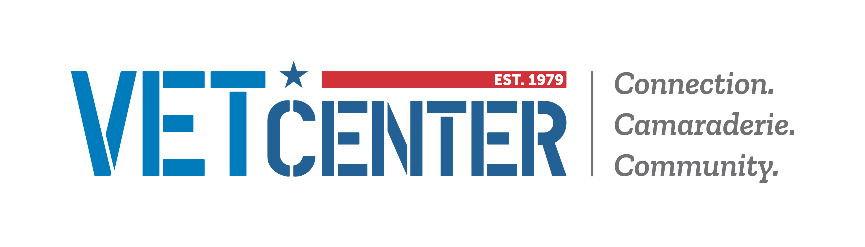 Text: Vet Center. Connection. Camaraderie. Community