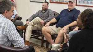 Group of Veterans talking at Vet Center
