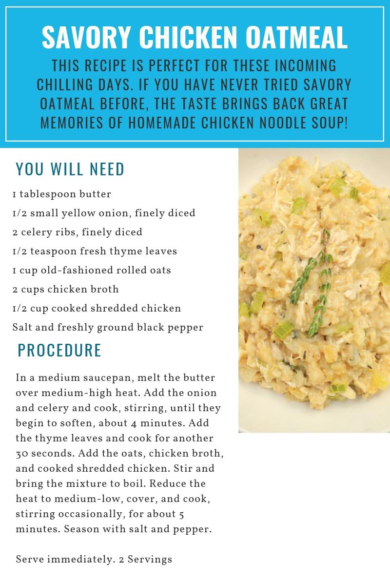 Savory Chicken Oatmeal