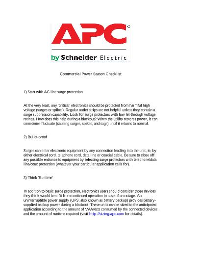 APC Showcase - Power Solutions