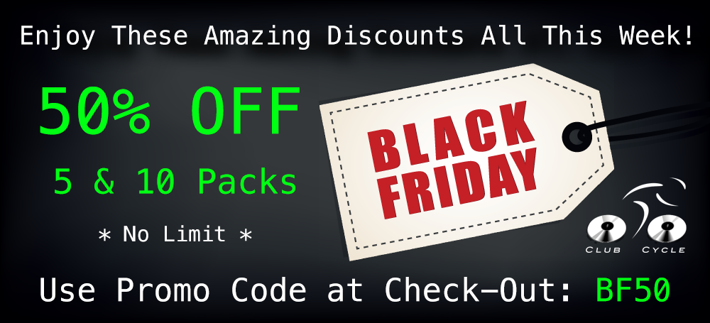 50% Off 5 and 10 Packs at Club Cycle for Black Friday!